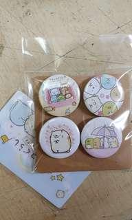 Sumikko Gurashi button badge 32mm
