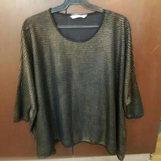Black ang Gold Top - freesize