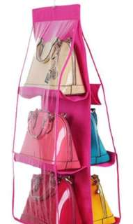 Bag hanging organizer available colors (Light Pink,Green,Pink,Orange and Violet)