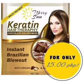 Merry Sun Keratin Hair Therapy Chocolate Golden Mask