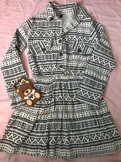 Aztec Polo Dress
