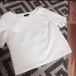 Zalora formal white top