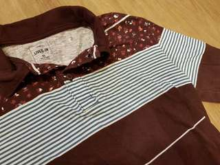 GAP Maroon Printed Collared Shirt