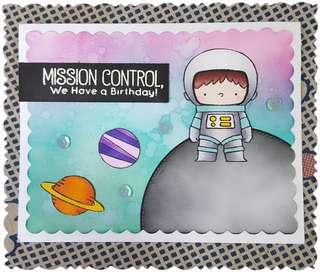Handmade Greeting Card - Space Explorer 3