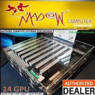 Sapphire Inca CS-14 Computer Mining System.., Dual Rx 470 (8Gbx2) x 7pcs,  Total 14 GPUs.