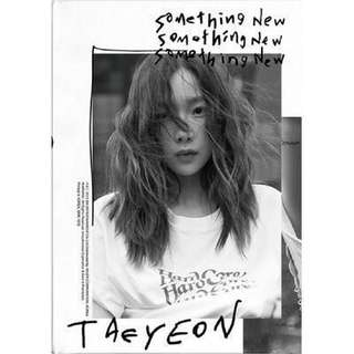 [PREORDER] TAEYEON 3RD MINI ALBUM -SOMETHING NEW