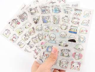 (Set of 6) Baby Sea Lion Scrapbook / Planner Stickers #142