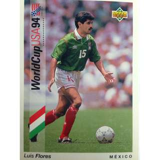 Luis Flores (Meixco) - Soccer Football Card #3 - 1993 Upper Deck World Cup USA '94 Preview Contenders