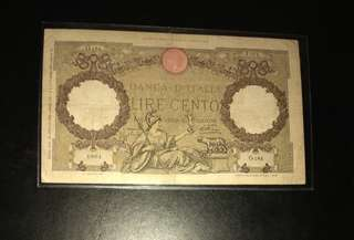 Italy 100 lire 1938 issue