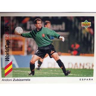 Andoni Zubizarreta (Belgium) - Soccer Football Card #2 - 1993 Upper Deck World Cup USA '94 Preview Contenders