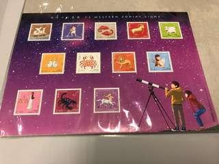 西方十二星座郵票12 western zodiac signs stamps