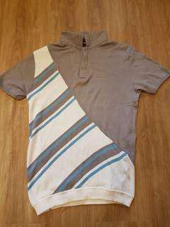Tyler Knitted Diagonal Stripes Polo Shirt