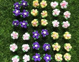 🌷 Handmade / Handicraft Polymer Clay Flowers. Great For Earring, Bracelet, Necklace, Pendant Etc