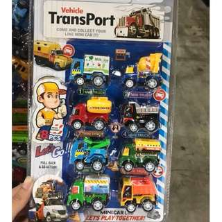 #衝評回饋價限定玩具   八入迴力工程車