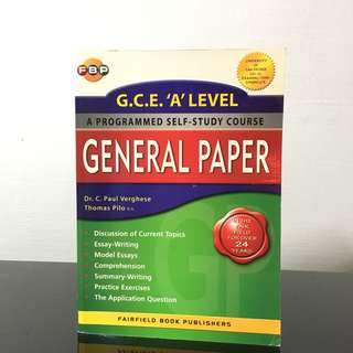 A LEVEL H1 GENERAL PAPER - GP Self Study