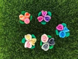 🌷 Handmade / Handicraft Polymer Clay Flower. Great For Earring, Bracelet, Necklace, Pendant Etc