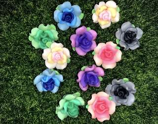 🌷 Handmade / Handicraft Polymer Clay Flowers. Great For Earring, Bracelet, Necklace, Pendant Etc