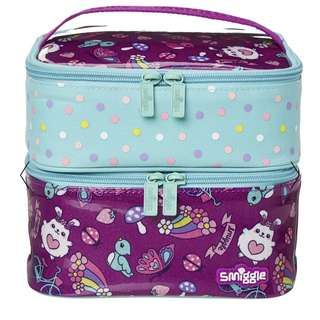 Smiggle Squad Dual Square Lunch bag Lunchbox
