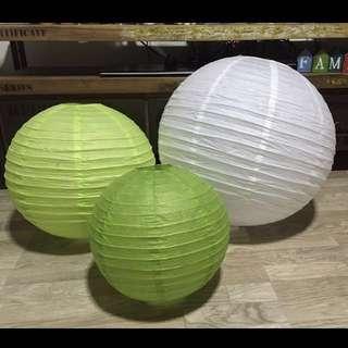 Sale: 4 Big Paper lanterns