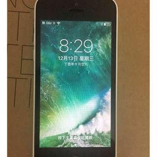 iphone5c 16G白色 9成新