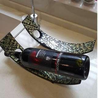 Wine Holder Balinese pua shell inlay
