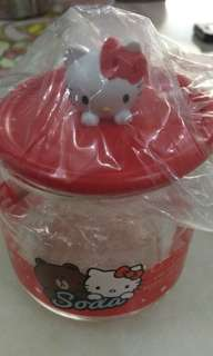 3D Hello kitty glass container 7-11