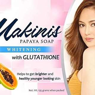 makinis whitening soap with gluta