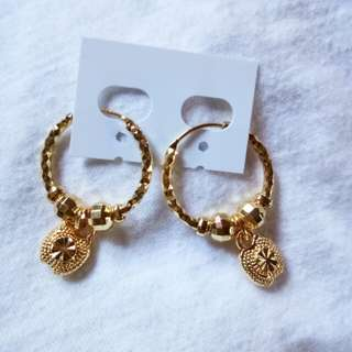 Stainless steel gold plated earrings