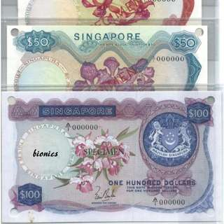 Specimen Orchid LKS - Only 77 Sets in Folder Singapore