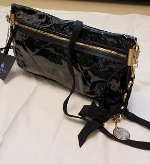 LANVIN Black Patent leather Amalia  bag Small