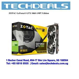 ZOTAC GeForce® GTX 1060 AMP! Edition Graphic Card