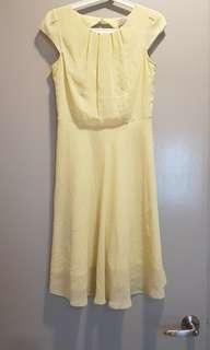 Dorothy Perkins Pastel Yellow flowy dress
