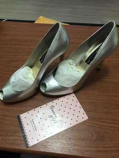 銀色魚口高跟鞋