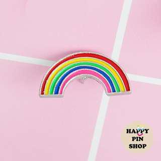 Skinny Rainbow Enamel Pin