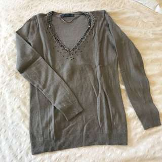 Zara sequined pullover