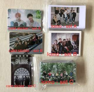 [ wts ] bts lomo and card stickers