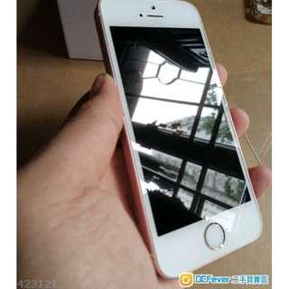 港行iphone se 64gb rose gold 粉紅 玫瑰金 95%新 無保養 齊配件