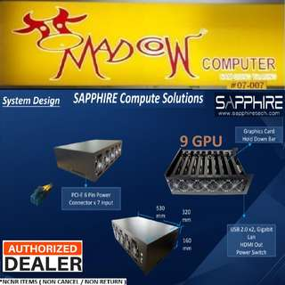 Sapphire MGI-9 RX 470 8GB x9 pcs Computer System.., up to 260Mhz/s +- 5 %