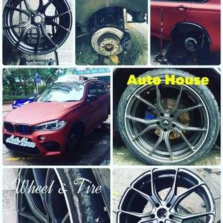 BMW更換車軚丶修補車軨、更換偈油油隔丶迫力友連燈線丶泊車感應維修,度軚,膠邊裝飾安裝。 預約電話:31739102