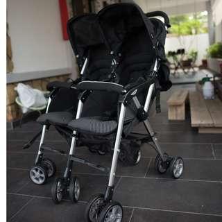 combi double baby stroller