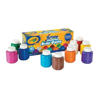 Last set of Crayola Washable Kids' Paint promotion at $15!!!  Per box contain 10 bottles of color