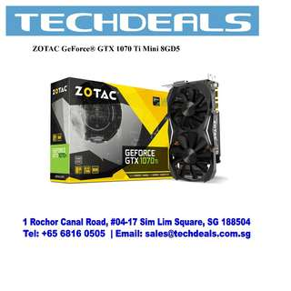 ZOTAC GeForce® GTX 1070 Ti Mini 8GD6 Graphic Card