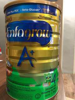 Free 1.8kg Enfagrow Stage 4 milk powder free giveaway. (Balanced used)