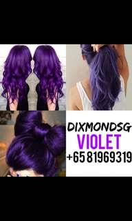 Dixmond violet hair