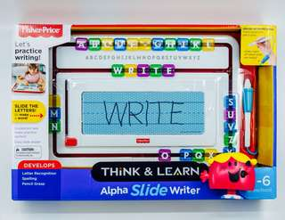 ~Ready Stocked~ Fisher-Price Think & Learn Alpha Slide Writer Trace