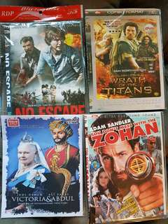 Package of 20 movie DVDs