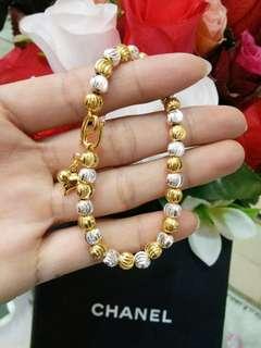 bracelet two king Gold genuine