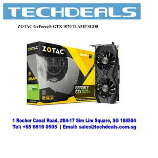 ZOTAC GeForce® GTX 1070 Ti AMP 8GD5