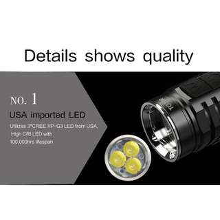 TO10R WUBEN (650 Lumens) Flashlight Torch