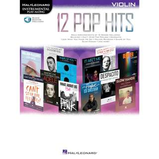12 POP HITS - VIOLIN INSTRUMENTAL PLAY-ALONG (WITH AUDIO ACCESS)